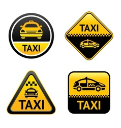 Taxi cab set buttons vector image