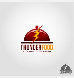 thunder food - flash food - professional flash vector image