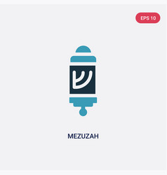 Two color mezuzah icon from religion concept vector