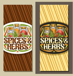 vertical layouts for spices and herbs vector image