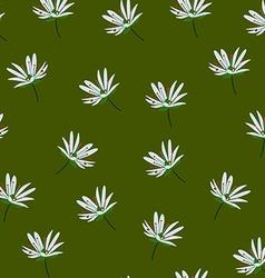 White flower green background vector image