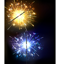 Yellow and Blue Sparkler vector