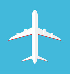 airplane in the sky commercial airplane in bottom vector image vector image