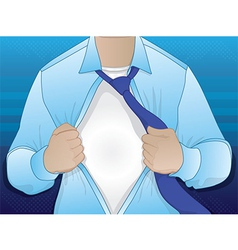 Business Man Opening Shirt vector image vector image