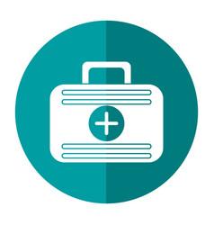 First aid case medical emergency shadow vector