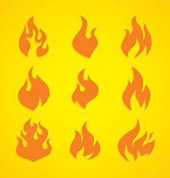 flaming fire theme vector image vector image