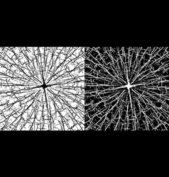 grungy cracked lines texture in black and white vector image vector image