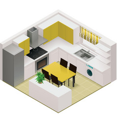 isometric kitchen icon vector image