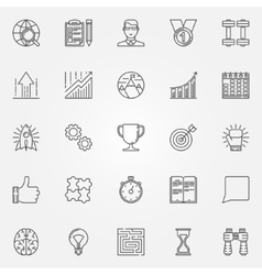 Motivation icons set vector image