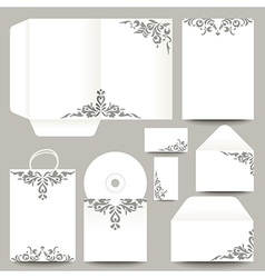 Stationery with Patterns vector image vector image