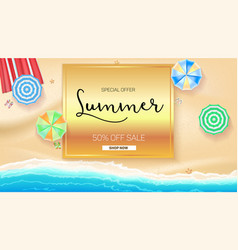 advertising banner sales with typography summer vector image vector image