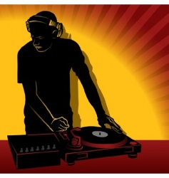 dj action vector image vector image