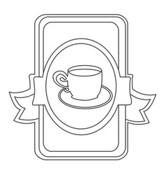figure symbol cup with plate icon vector image