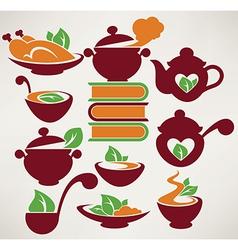 food symbols vector image vector image