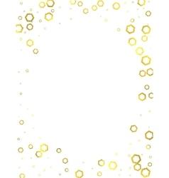 Gold glittering foil hexagons on white background vector image vector image