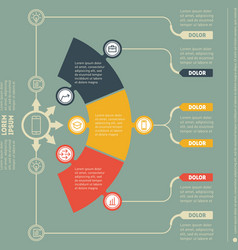 infographic template of technology or education vector image vector image