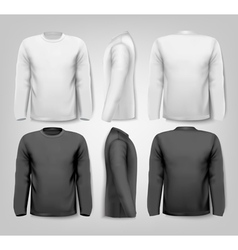 Long sleeved shirts with sample text space vector image