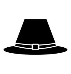 Pilgrim hat icon simple style vector image