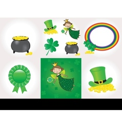 St Patrick day set vector image