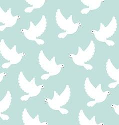 Blue bird pattern vector image