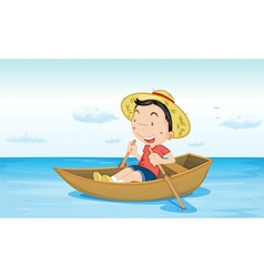 Boat on water vector image vector image
