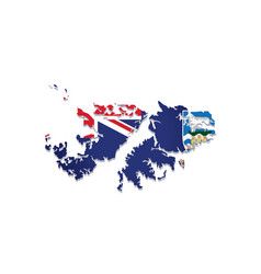 falkland islands flag amp map vector image vector image