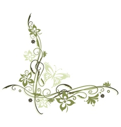 Flowers olive vector