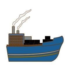 Industrial ship icon image vector