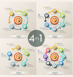 set of 4 modern infographic design templates vector image vector image