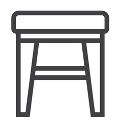 stool line icon furniture and interior vector image