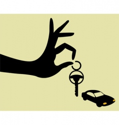 take the keys vector image vector image