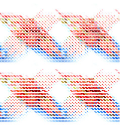 colorful abstract geometric seamless background vector image vector image