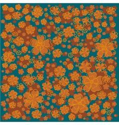 Floral pattern with lined and colored flowers on vector
