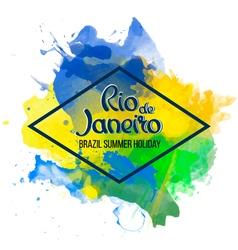 Inscription Rio de Janeiro on a background vector image vector image