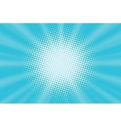 Light blue pop art background vector image vector image