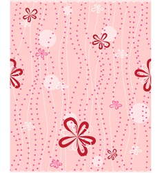 seamless background with floral pattern vector image vector image