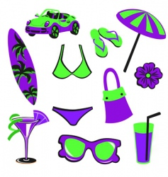 summer items vector image