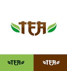 Tea text logo vector image vector image