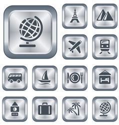 Travel buttons vector image vector image