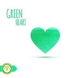 Watercolor paint heart vector image vector image