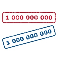 1 000 000 000 Rubber Stamps vector image