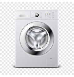 3d realistic modern white steel washing vector