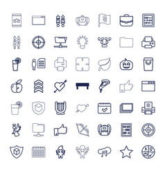 49 thin icons vector