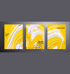 Abstract banner collection modern fluid vector