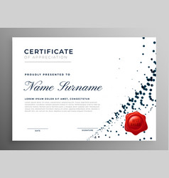 Abstract diploma certificate of appreciation vector