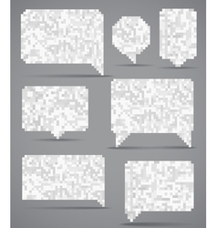 Abstract speech clouds collection of mosaic elemen vector