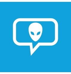 Alien message icon vector image