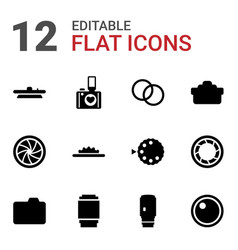 Aperture icons vector