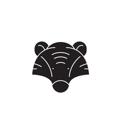 badger head black concept icon badger head vector image