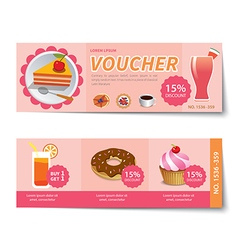 bakery voucher discount template design vector image